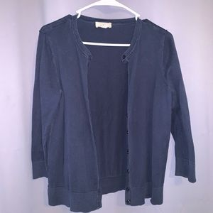 Navy Button Up Cardigan